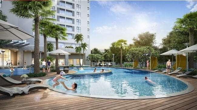 Tiện ích bể bơi cho các cư dân sinh sống tại DLC Complex